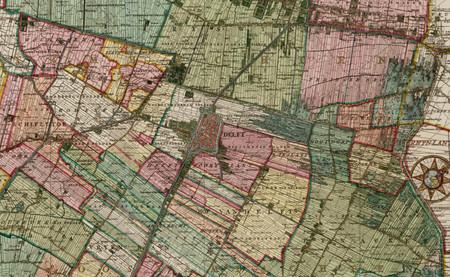 El fascinante sistema de presas y canales holandés, ilustrado en este mapa de Delf de 1712