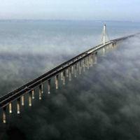 Los puentes más largos del mundo está en China, y el más largo tiene 160 km