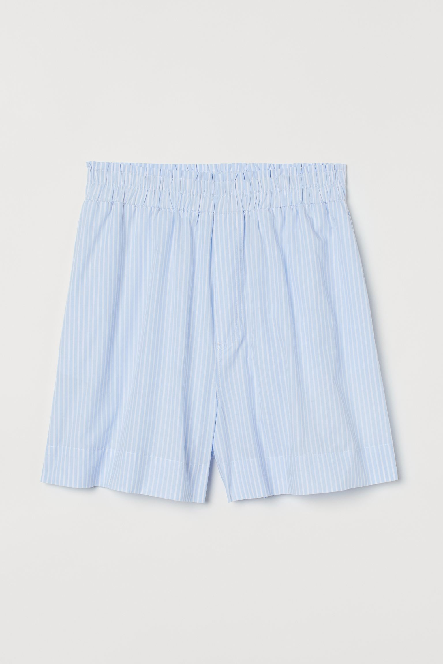 Pantalón corto de algodón de estilo pijamero