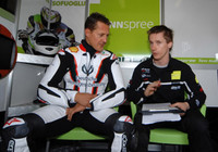 Schumacher prueba la CBR del Ten Kate