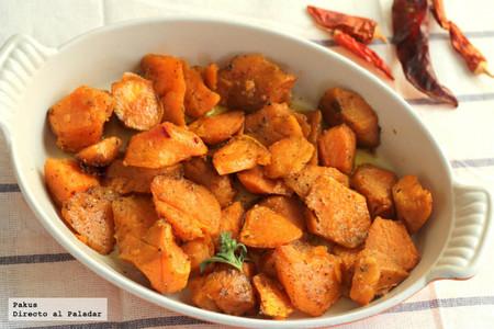 Guarnición de boniatos asados con especias, el acompañante ideal de tus asados de carne y pescado