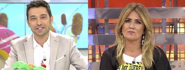 Telecinco juega al tetris con sus rostros habituales tras ser detectado un caso de coronavirus