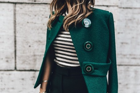 Salvatore Ferragamo Striped Top Green Jacket Mfw Milan Fashion Week Outfit Street Style Collage Vintage 45 790x527