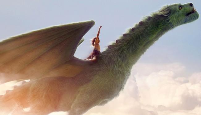 Cartel Peter Y El Dragon Pelicula
