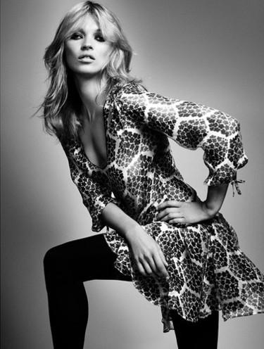 Kate Moss posa con su colección otoño-invierno para TopShop