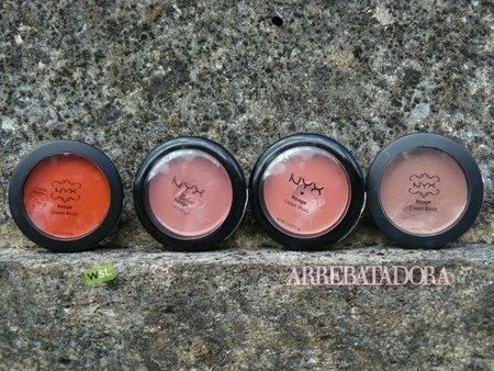 Los coloretes en crema de NYX