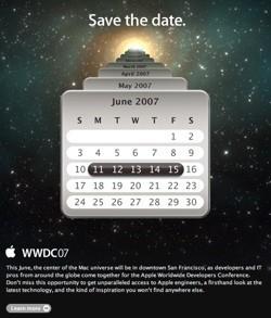 Apple anuncia oficialmente la WWDC'07