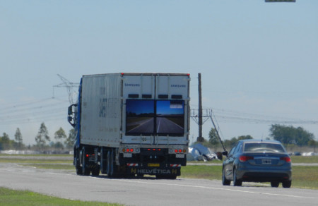 Samsung comienza a probar su Safety Truck en Argentina