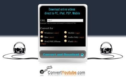 ConvertYouTube, otro servicio online para convertir a otros formatos vídeos de YouTube