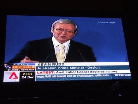 Cae Kevin Rudd primer ministro de Australia y adalid de la censura en la red