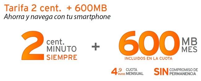 Simyo responde: llamadas a dos céntimos por minuto y 600 Mb por 4.9 euros mensuales
