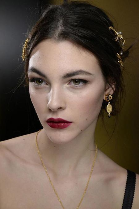 Los recogidos de Dolce & Gabbana que se pudieron ver durante el desfile otoño-invierno 2015