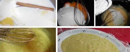 Preparación de la crema pastelera