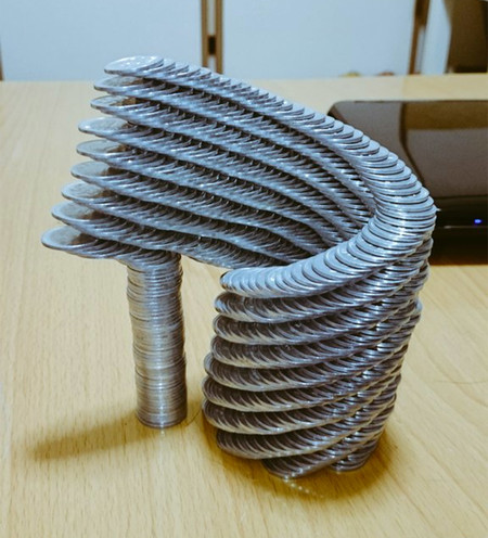 Nunca antes habías visto esculturas de monedas así de fascinantes e imposibles