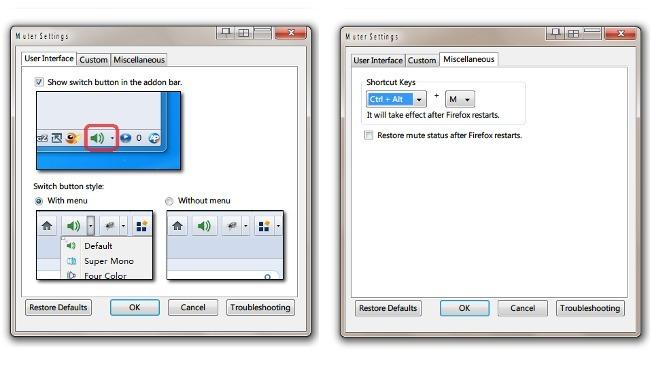Muter, una extensión para quitar el sonido en Firefox