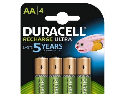 Pack de 4 pilas recargables Duracell de 2500mAh con un 60% de descuento