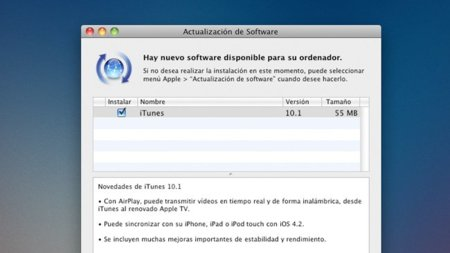iTunes 10.1 ya disponible