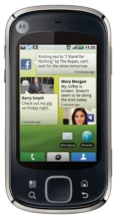 Motorola Quench con Android 2.1 para la gente joven
