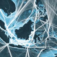 Todo el tráfico marítimo mundial de un año, resumido en este mapa interactivo
