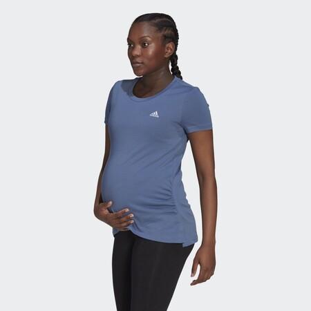 Camiseta Essentials Cotton Premama Azul Gv6580 21 Model