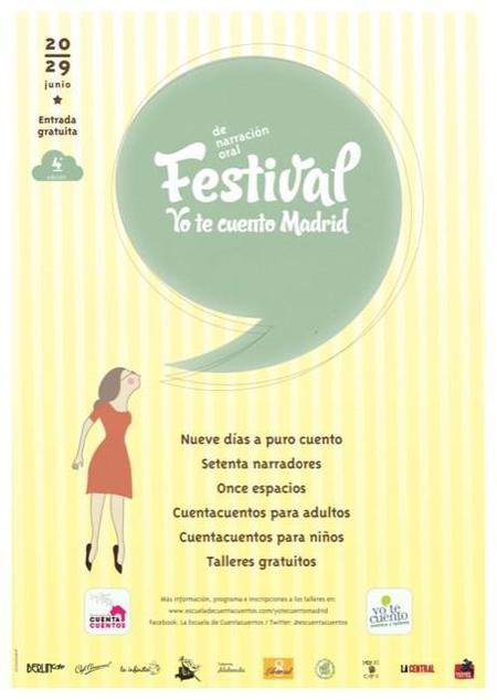 El Festival Yotecuento Madrid llenará la ciudad de historias durante una semana