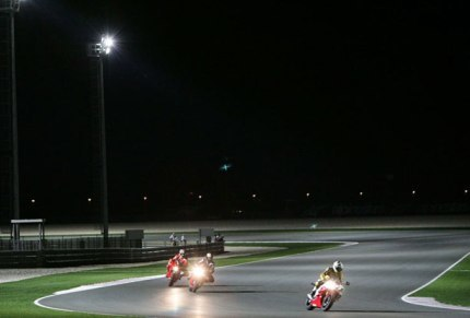 Últimos preparativos para el GP nocturno en Qatar