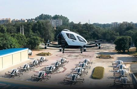 El taxi volador eléctrico y autónomo EHang surcará el cielo de Sevilla en un programa de pruebas