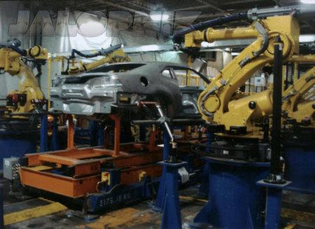 La cadena de montaje del Chevrolet Camaro