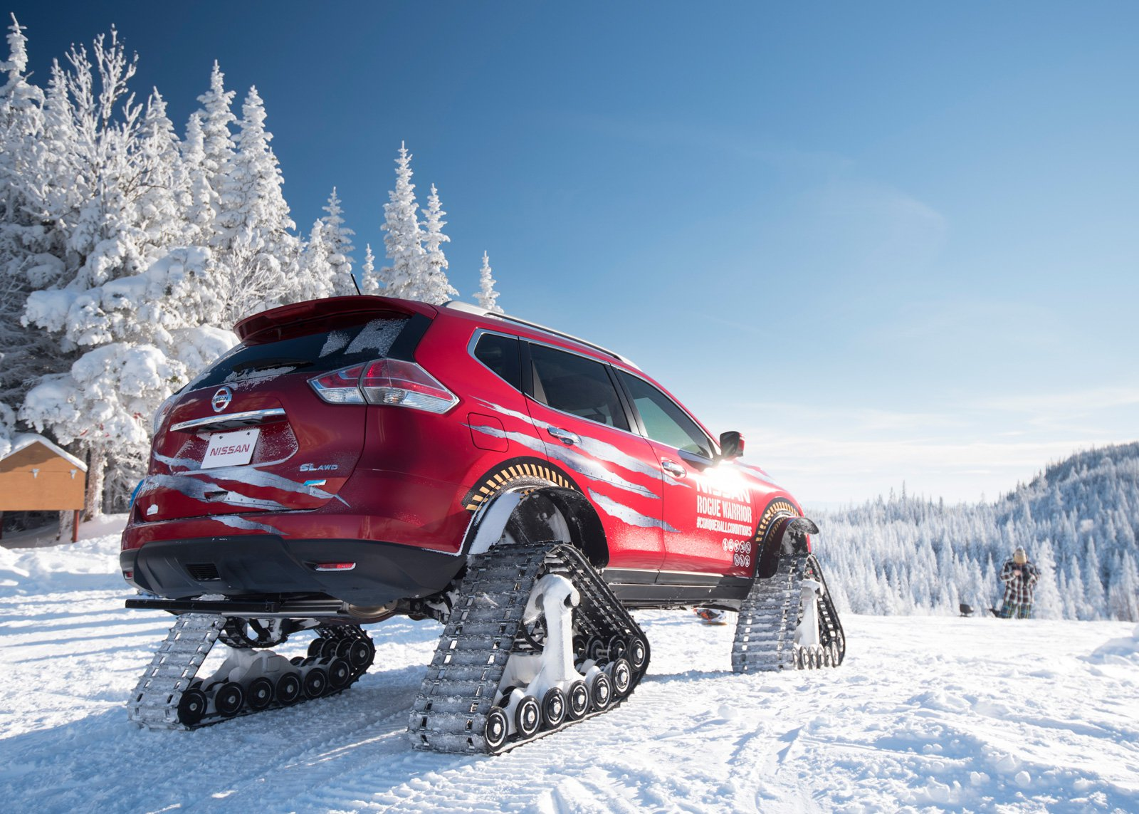 Nissan Rogue Warrior Concept Un X Trail Con Orugas Para Nieve