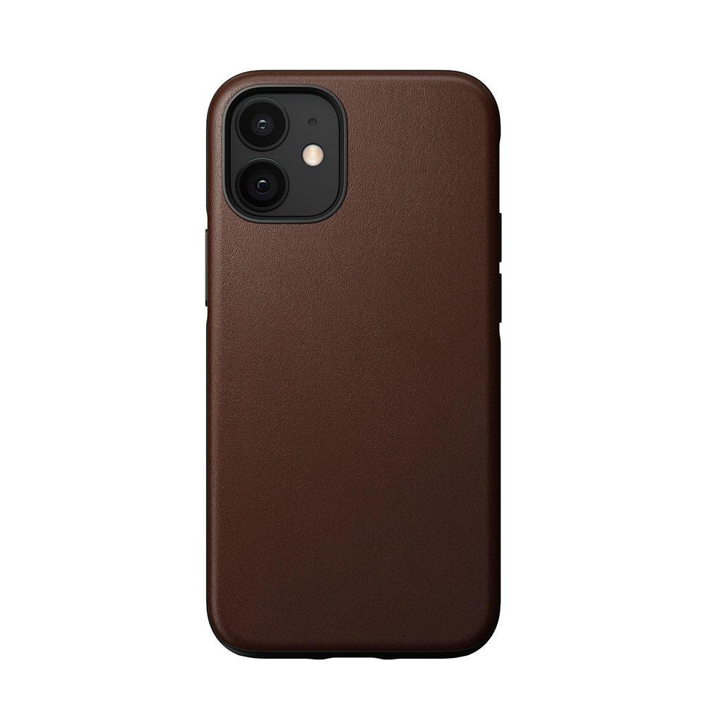 Nomad Rugged Funda iPhone 12 mini Piel Marrón