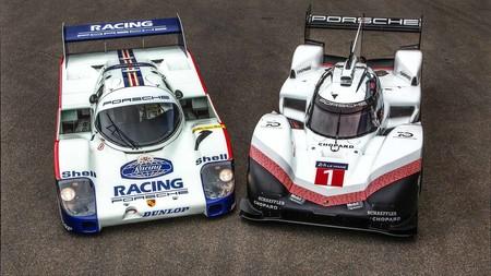 Porsche 956 C y Porsche 919 Hybrid Evo