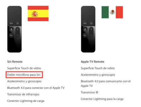 Siri Remote Mexico