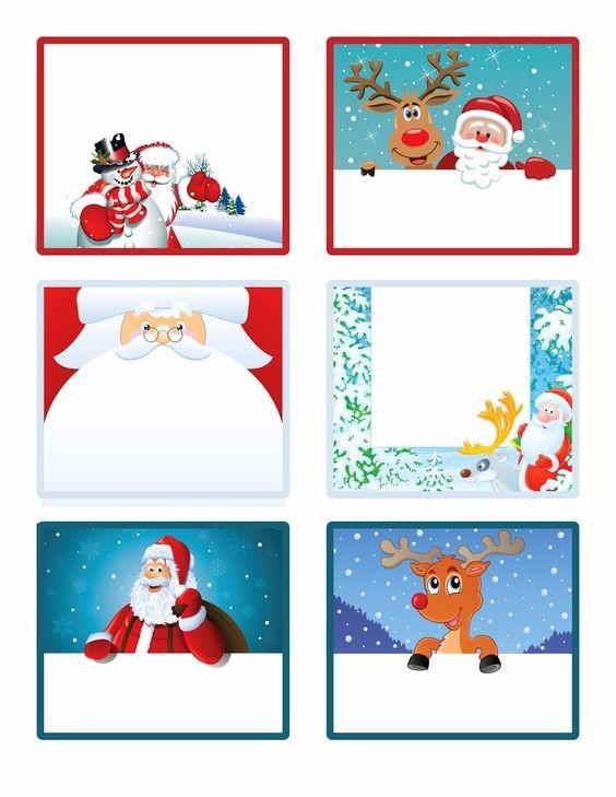 Imprimibles Navidad 12pegatinas