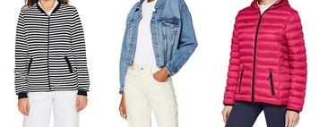Chollos en tallas sueltas chaquetas y abrigos para mujer de marcas como Esprit, Columbia o New Look en Amazon