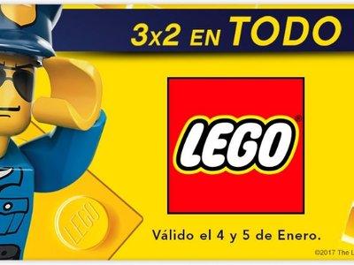 3x2 en Lego hasta medianoche en El corte inglés. Gastos de envío gratis a partir de 50 euros