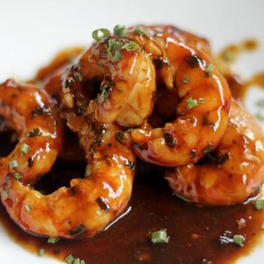 Gambones en salsa de ostras, receta de aperitivo