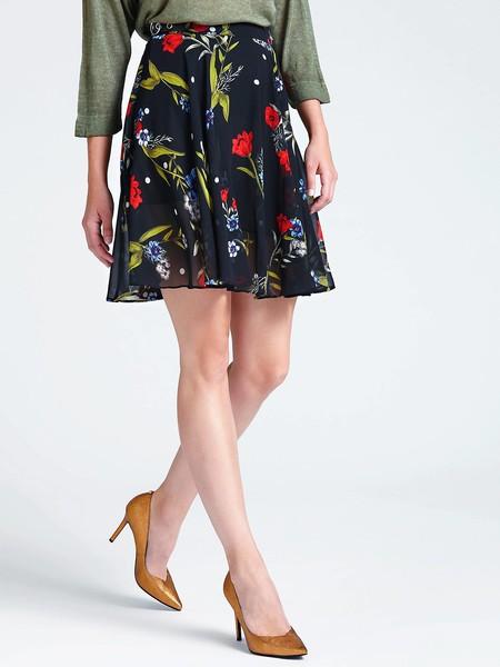 falda flores midi