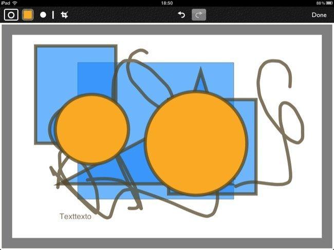 Edición de gráficos en Notability