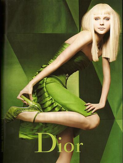 Jessica Stam para Christian Dior Otoño/Invierno 2007-2008