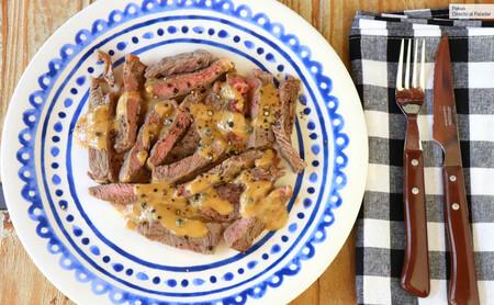 Cómo hacer el entrecot a la pimienta perfecto, receta sencilla
