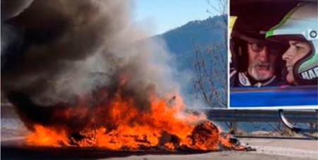Arde un Alpine A110 durante un rodaje de 'Top Gear' (pero esta vez no ha sido Hammond)