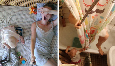Una mujer documenta el día a día de la maternidad para que lo vean los que creen que no hace nada en casa