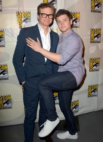 Taron Egerton y Colin Firth en la Comic-Con