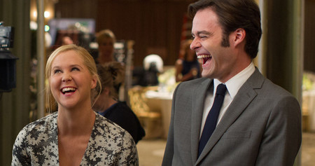 Amy Schumer And Bill Hader Share A Laugh