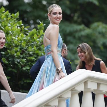 Chiara Ferragni arrasa en Madrid con un vestidazo del mismo diseñador que creó el vestido de novia de Pilar Rubio