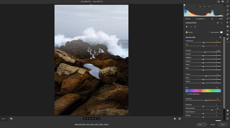 filtro de degradado en Photoshop camera raw