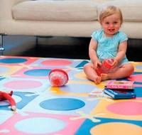 Las alfombras de goma en la zona de juego