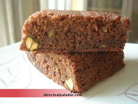 Receta de brownies con pistachos