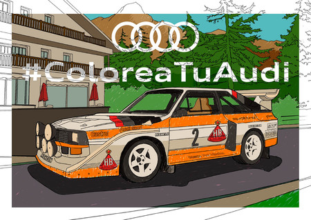 Audi y Porsche nos ayudan a combatir la cuarentena con láminas para colorear sus coches más míticos