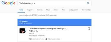 Cómo buscar trabajo en Google con la función 'Empleos'